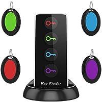 AOGUERBE Localisateur d'objets Key Finder Clés Tracker Téléphone Localisateur Sans Fil GPS LED Traceur Intelligent Anti-Perte Porte-Clé avec Alarme de Localisation portefeuilles