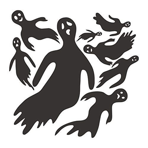 Wallfia Kreatives selbstklebendes PVC-Wandbild DIY Lustiger Geist-Halloween-Horrorraum