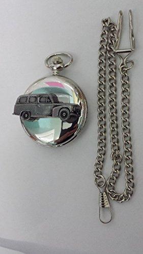 Volvo 210Duet Kombi ref285Zinn Effekt Emblem Silber Poliert Fall Herren Geschenk Quarz Taschenuhr hergestellt in Sheffield
