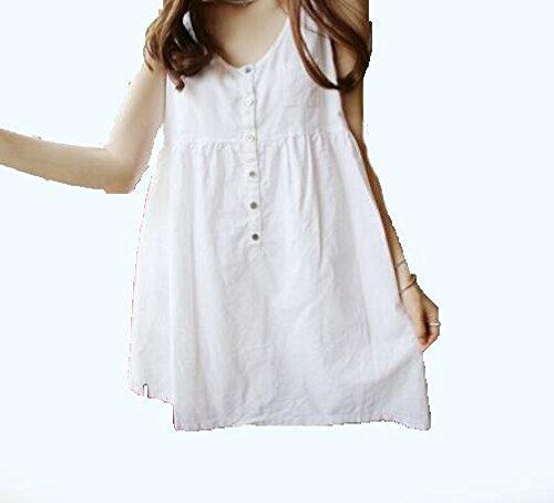 DESY Mode neue Baumwolle und Leinen Mutterschaft Kleid, Sommer kleine frische Kleid, schwangere Frauen Kleid , white , - Leinen Mutterschaft Rock