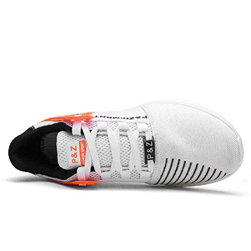 Hommes Chaussures de sport Mode Respirant Loisir Chaussures de voyage Chaussures de course White