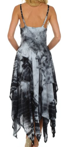 Sakkas Annabella vestito orlo corsetto corpetto fazzoletto per le donna Nero / Bianco