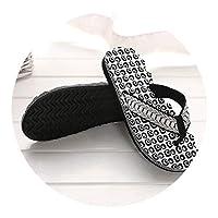 Ablaze Jin-eu mens slippers Comfortable Massage Flip Flops Sandals Male Slipper Indoor Outdoor Flip-Flops Casual Beach Shoes1,Black,9.5
