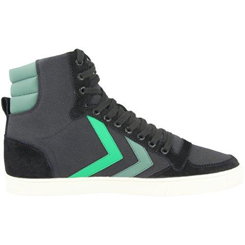 Hummel Unisex-Erwachsene Slimmer Stadil Duo Canvas High Hohe Sneaker Schwarz (Black)