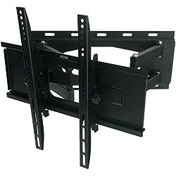 Nemaxx SK05 TV Wandhalterung für LCD LED Plasma Fernsehen Monitor neigbar universell für viele Hersteller - max. VESA 400x400 / 23 - 55 Zoll - Schwarz