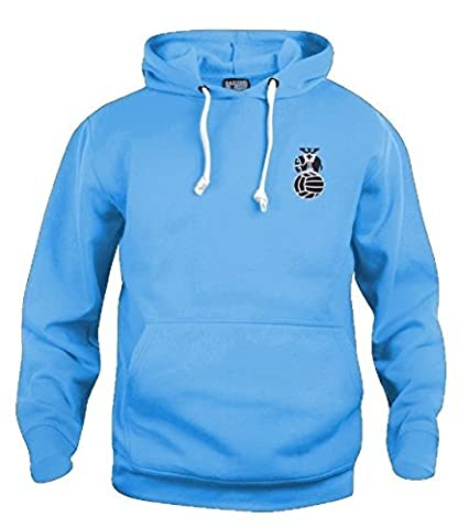 Retro Coventry City 1970's Football Hoodie New Sizes S-XXXL Embroidered Logo (Large, Sky Blue)