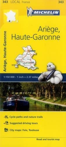 Ariege, Haute-Garonne - Michelin Local Map 343 (Mapas Local Michelin) (Michelin Maps Deutschland)