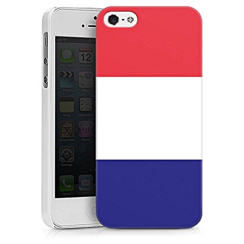 Apple iPhone X Silikon Hülle Case Schutzhülle Frankreich Flagge Fußball Hard Case weiß