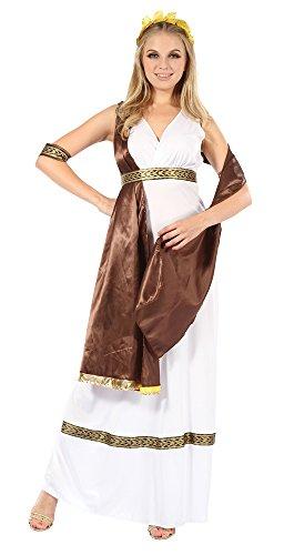 6Göttin mit Band Kostüm, braun, Größe 10–14 (Griechische Kostüme Ideen)