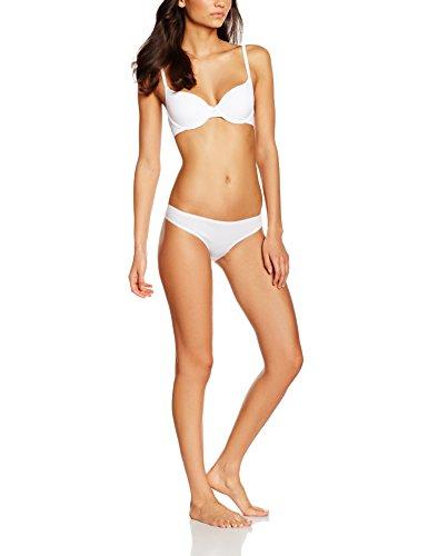 Iris & Lilly Damen Brazilian Slip Cotton 5er Pack Weiß (White)