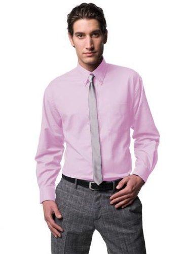 Herren Classic Langarm-oxford (Russell Collection! Pflegeleichtes Langarm Oxford Hemd auch in Übergrößen XL / 43/44, Herstellergrösse 17.5,Classic Pink )