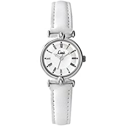Limit Classic White Dial White PU & Leather Strap Ladies Watch 6034