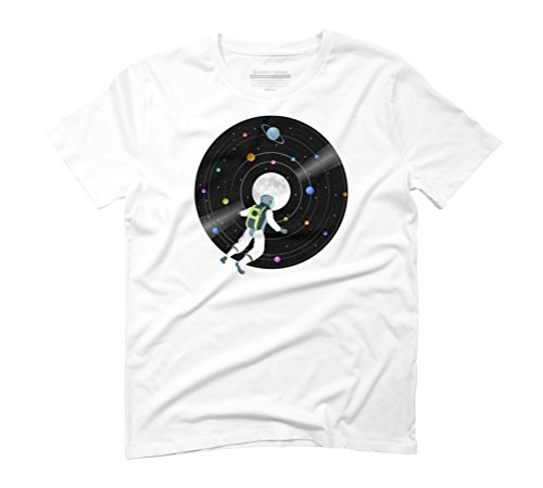 Space Record Men's Graphic T-Shirt - Design By Humans White