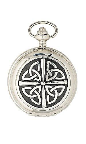 The Sgian Dubh Company Triquetra - Reloj de Bolsillo de Cuarzo con Nudo Celta, diseño de Medio Cazador, Fabricado en Escocia PW101Q