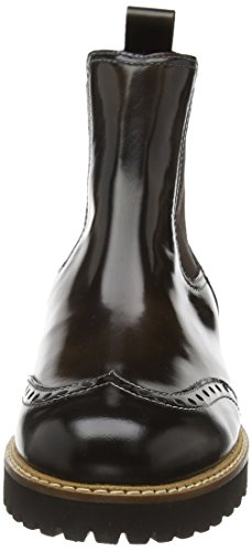 Accatino 961498, Bottes Chelsea courtes, doublure froide femme Marron - Braun (Braun/Schwarz)