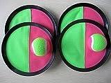 Klettball -Spiel mit 4 Fangscheiben und 5 Klettbällen Ein toller