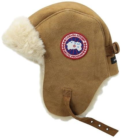 Canada Goose Wildleder Shearling Pilot Hat, unisex Herren damen, natur