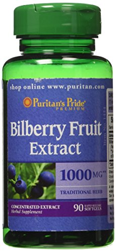 Bilberry - Myrtillusbeere 1000 mg / 90 Kapseln