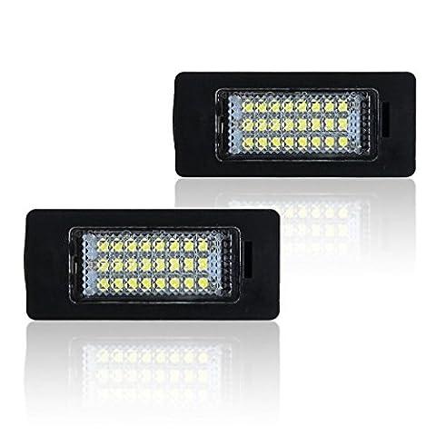 WIN Puissance sans erreur Licence Plaque Ampoule Lumière Générale Blanc lumineux Feux LED pour BMW Série 5E39E60N E61E90, X Series E70, e71,1Series E82, E81