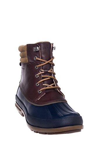 Sperry - Cold Bay Boot W/Vibram, Stivali a metà gamba con imbottitura pesante Uomo Navy/Dark Brown