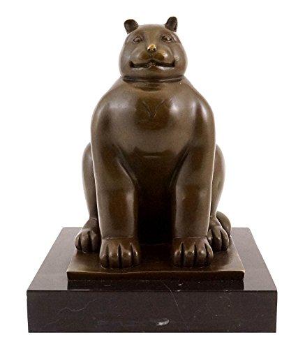 Fernando Botero–Fat Cat/Grasas gato–Escultura de bronce–Firmada–Botero Bronce Figuras