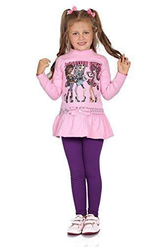 Futuro, modische, dicke, warme Leggings für Kinder aus Baumwolle, Hosen für Mädchen, Kinderhose in voller Länge, Alter 2,3,4,5,6,7,8,9,10,11,12,13 Gr. 3 Jahre, violett