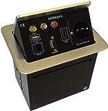 celexon Expert Tischanschlussfeld TA-200S - silber - 193x150mm - HDMI - VGA - 1x Audio (2 x Chinch L+R) - CAT6 - Strom