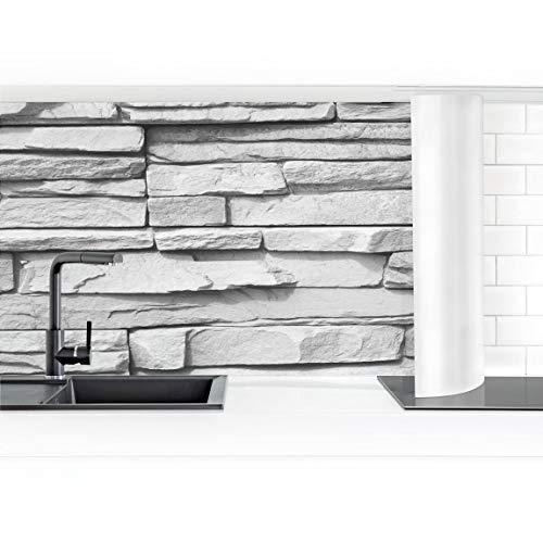 Bilderwelten rivestimento cucina - effetto pietra ashlar masonry 60 x 250 cm smart