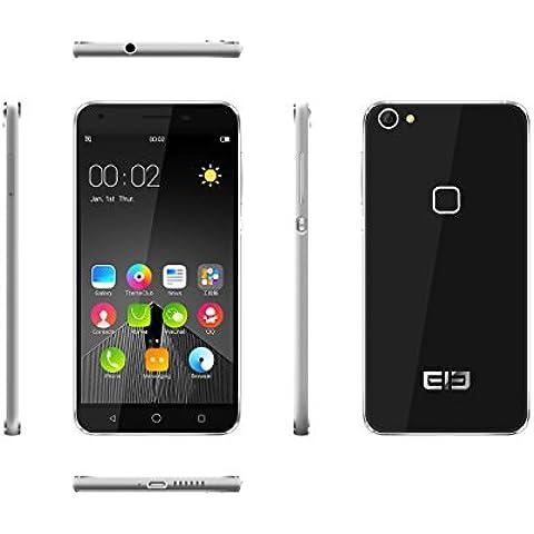[Elephone Tienda Oficial] ELE Elephone S1 3G Smartphone MTK6580 1GB RAM 8GB ROM, Quad Core 1.3GHz, Pantalla HD de 5.0 Pulgadas, Android 6.0, Cámara de 13 MP AF