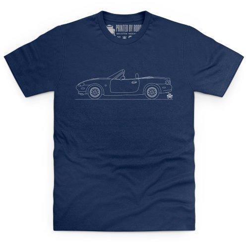 MX-5 Mk2 T-Shirt, Herren Dunkelblau