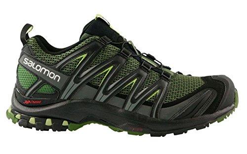 Salomon Herren Sportschuhe XA Pro 3D Herren Laufschuhe Trail-Running schwarz grün L39251900 schwarz 340971
