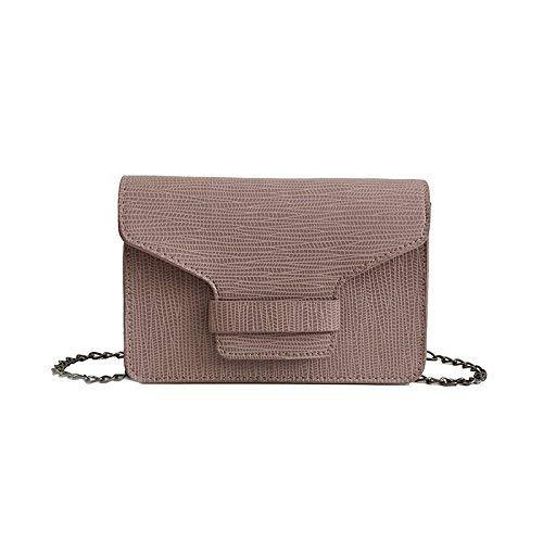 JKHGJUH Sommer Paket Argyle Kette kleine Party Pack Einzelner Schultertasche mit einem kleinen Paket Schloss verkettet an die weibliche dunkle Tasche Zipper Bag (Farbe : Pink) - Argyle Messenger