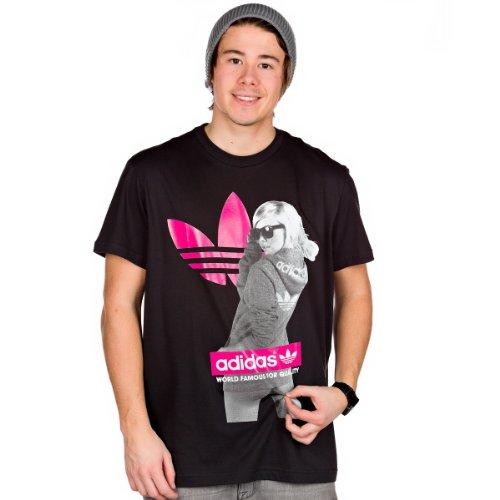 adidas Herren T-shirt Graphic Trefoil Tee Tape G Tee Girl | X34433