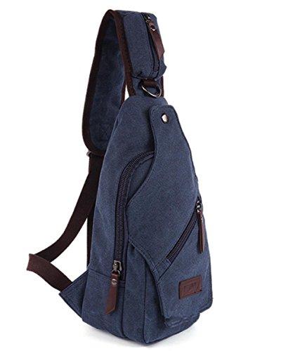 Sport und Freizeit Herren canvas-Brust-Tasche deep blue