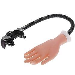 Mano de Caucho Flexible de Práctica para Aprendizaje de Manicura Uñas y Exhibición
