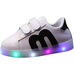 K-youth® Zapatillas Para Niños LED Lights, Zapatos de Bebé Cuna Suela Blanda Antideslizante Zapatillas Niño Vestir Casual Calzado de Deportes Zapatos de Senderismo Bebé-Niños (20 EU, Negro)