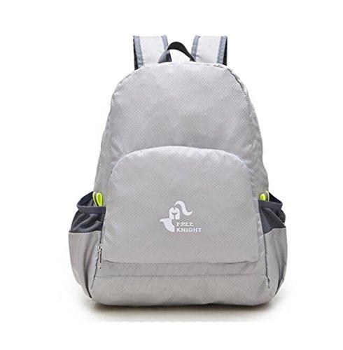 Wmshpeds Gli uomini e le donne possono piegare la piegatura borsa a tracolla ultra-light arrampicata in montagna borsa portatile borsa in pelle impermeabile C