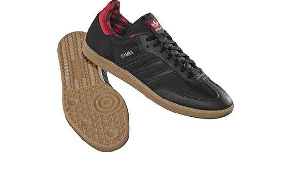 Mansedumbre carne de vaca Oír de  adidas Samba Black/Brown Material Trainers UK 9: Amazon.co.uk: Shoes & Bags