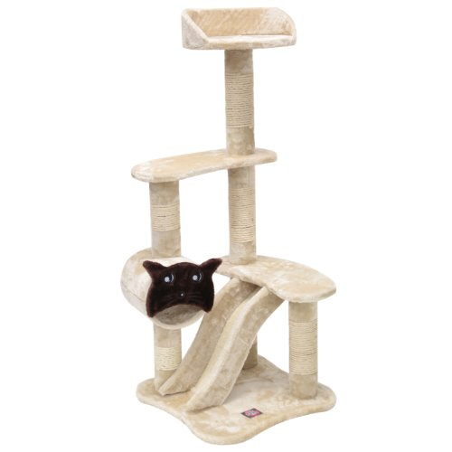 Majestic Pet Products 120,7 cm Beige Casita Cat mobili condo House Scratcher Multi Livello Pet attività Albero
