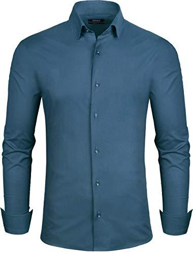 Grin&Bear Herren Hemd, Petrol, Regular, XL, ()