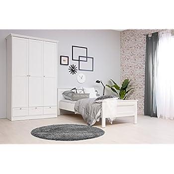 Schlafzimmer STOCKHOLM komplett Landhausstil in weiß: Amazon.de ...