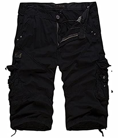 UMilk Men's Casual Solid Multi Pockets Cargo Shorts New Fashion Capri Pants