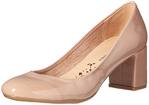 Chinese Laundry Open Toe Pumps (CL by Chinese Laundry Damen Ada, New Nude Patent, 37 EU)