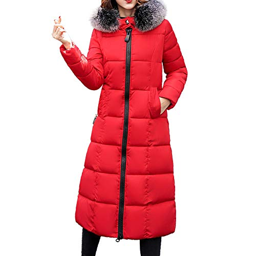 La Für Verkauf Parka Kostüm - Lange Daunenjacke Damen Pelz-mit Kapuze Lange Mäntel Frauen Zipper Jacken Herbst Winter Trenchcoat Kleidung Top Outwear Bluse Warm Mantel Parka Oberbekleidung