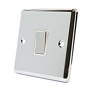 A5 Products SWI1GCCWC 10 A 2 Way Single Gang Light Switch - Chrome