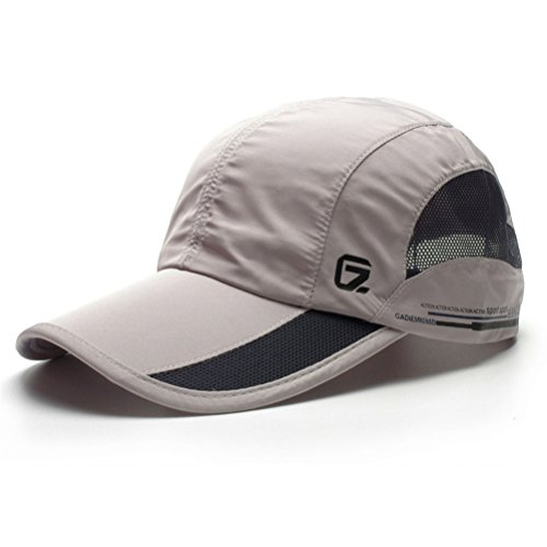 GADIEMENSS Quick Dry Sports Hat Lightweight Breathable Soft Outdoor Running Cap (Classic UP, Light Gray) (Print Floral Golf)