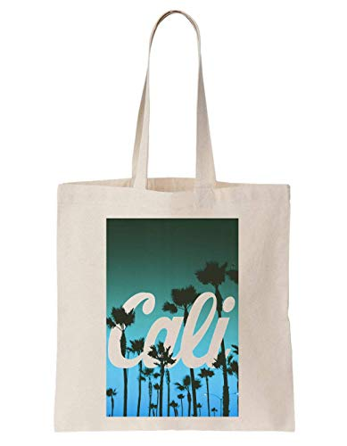 KRISSY California Palms Hipsta Poster Schultertasche Tote Bag - Palm Girl Poster
