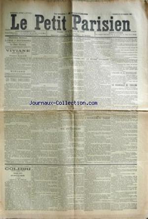 PETIT PARISIEN (LE) [No 5117] du 01/11/1890 - LES TITRES NOBILIAIRES CONSEIL DES MINISTRES LE REGIME DOUANIER L'AVANCEMENT TARDIF L'ESCADRE DE LA MEDITERRANEE LE SCANDALE DE TOULON COLIBRI par Collectif