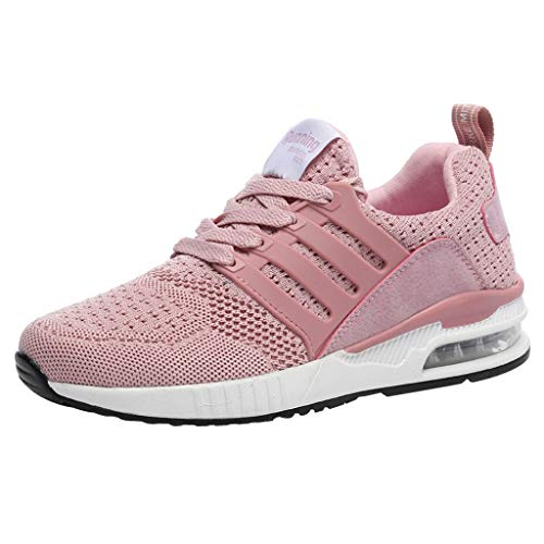 36-40 Scarpe da Ginnastica Corsa Sportive Fashion Donna Mesh Breathable Sneakers Casual Shoes Student Running Shoes Fitness Running Basse Interior Casual all'Aperto Ros