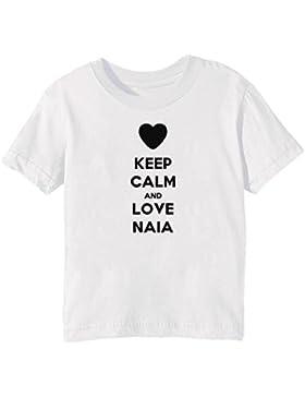 Keep Calm And Love Naia Bambini Unisex Ragazzi Ragazze T-Shirt Maglietta Bianco Maniche Corte Tutti Dimensioni...